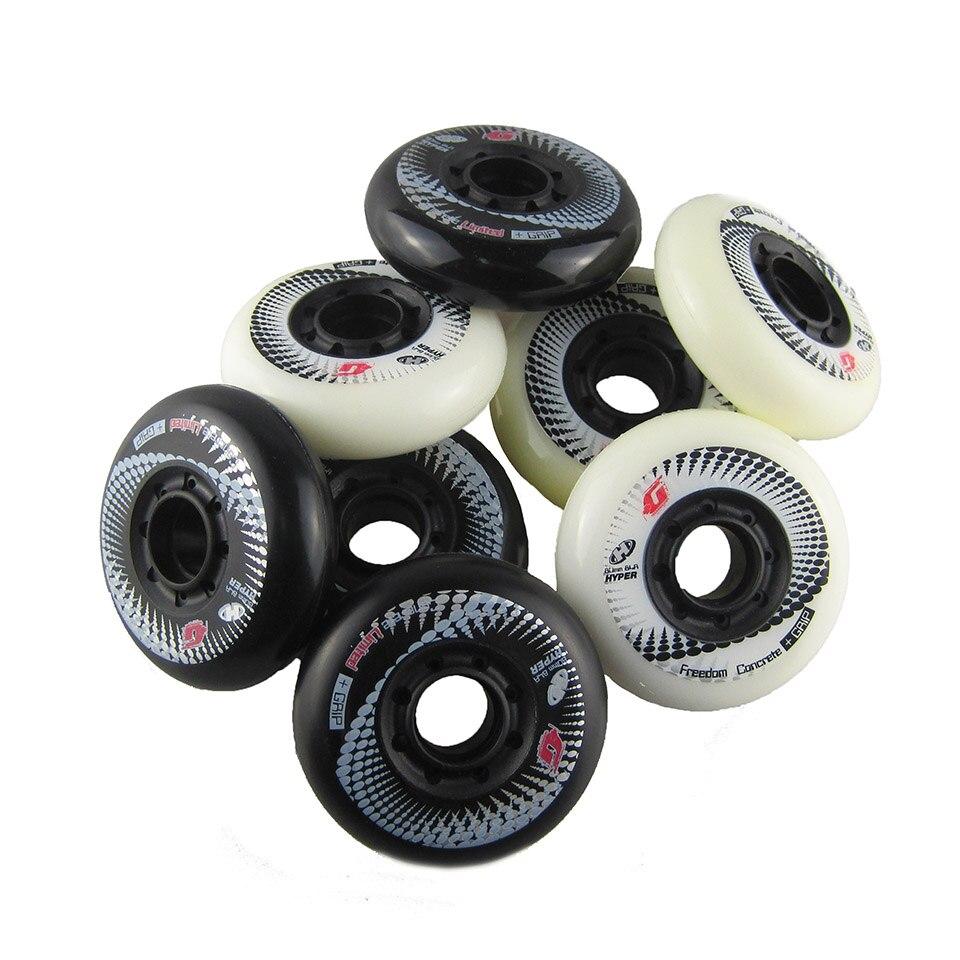 Image 2 - 8 шт. 84A Hyper + G бетонные роликовые коньки с ILQ 11 подшипником 80 мм Slalom свободный каток для катания на коньках для SEBA Patines шины-in Детали и аксессуары для скутера from Спорт и развлечения
