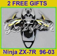 ABS fairing for Kawasaki Ninja ZX 7R 96 03 ZX 7R 97 98 99 01 02 ZX7R 1998 1999 2001 2002 2003 KH07
