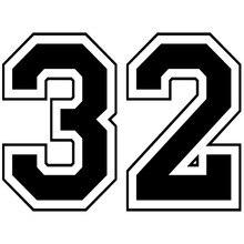 Ck2080 #20*15cm números 32 engraçado etiqueta do carro decalque do vinil prata/preto carro auto adesivos para carro pára-choques janela carro decorações