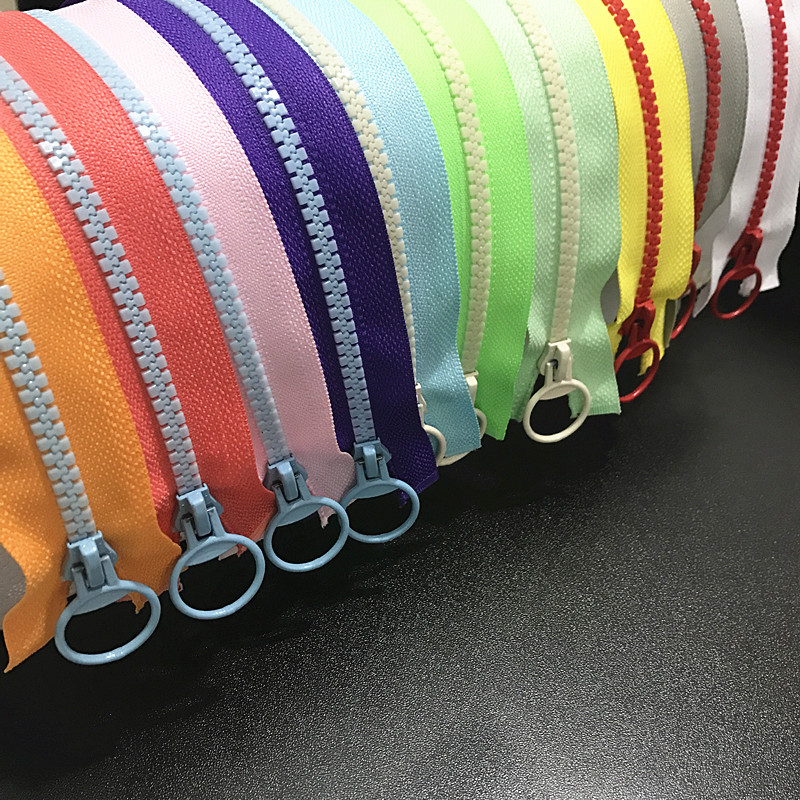 1 шт., разноцветные (30-60 см) отверстия, 5 #, полимерное кольцо на молнии, головка на молнии, швейные сумочки, аксессуары для одежды (Цвет: U Выбери...