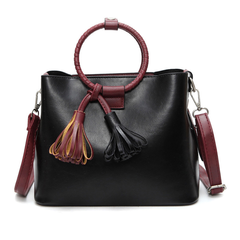 2016 new woman solid fashion pu leather high quality female bag large capacity mother handbag color