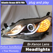 Auto Lighting Style LED Head Lamp for Toyota Reiz led headlights 2010-2012 Mark X Cob drl H7 hid Bi-Xenon Lens low beam