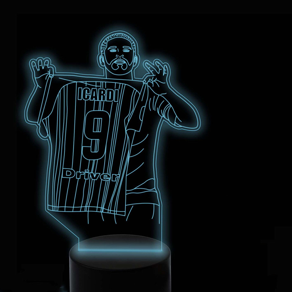 3D Led Soccer Player Modelling Night Lights Colorful Usb Football Desk Lamp Baby Bedside Sleep Light Fixture Bedroom Decor Gifts