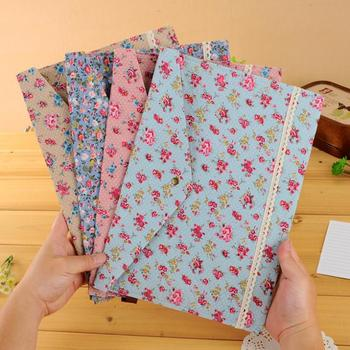 1 Pieces New Floral lovely Polka Dot Floral A4 pouch bag case paper cute Korean Office School Filing Products Document 1