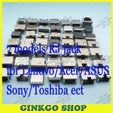 70 Новые Модели Бесплатная доставка RJ45 Комбинированный Разъем Ноутбука Разъем Локальной Сети интерфейс адаптер для ASUS Lenovo ACER Sony Toshiba DELL IBM т. д.