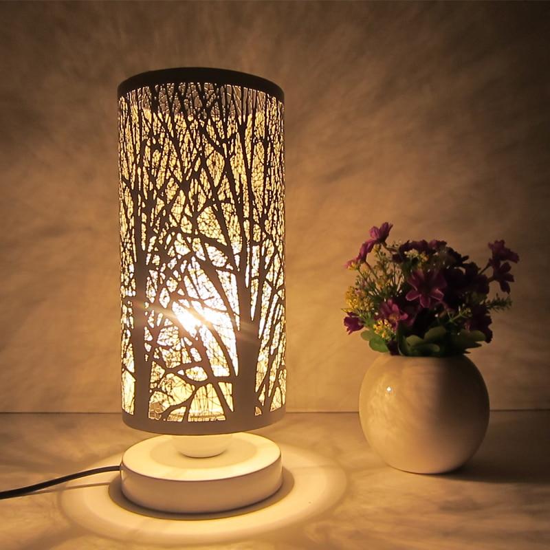 Европейском стиле Спальня настольные лампы, украшения творческий Спальня ночники простой современный Мода Железный настольная лампа