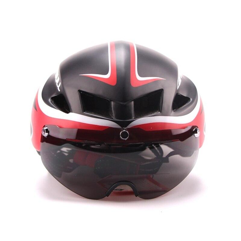 3 lentilles Aero 290g TT lunettes casque de vélo route vélo sport sécurité casque équitation hommes course dans le moule contre la montre cyclisme casques - 3