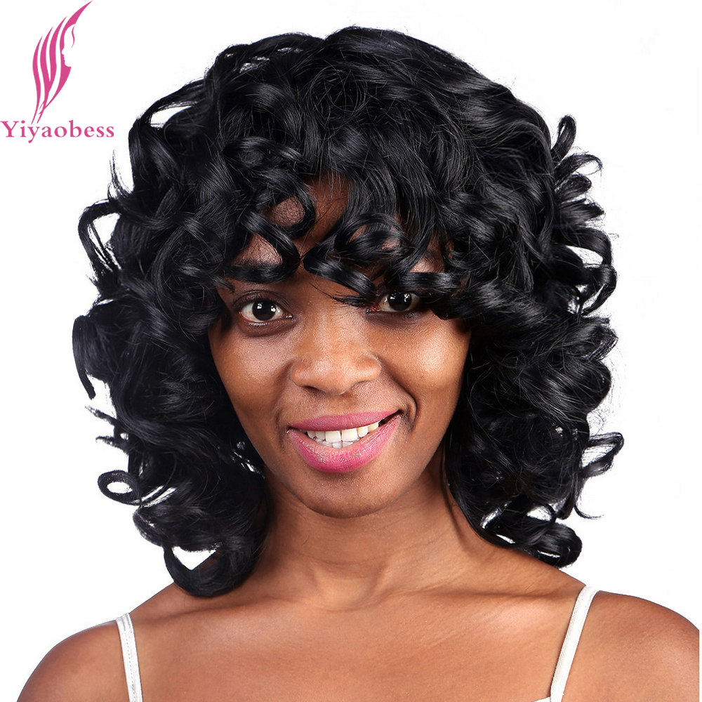 shoulder length curly hairstyles for black women 2015 yiyaobess 35cm 1 medium length black hairstyles mommy wig