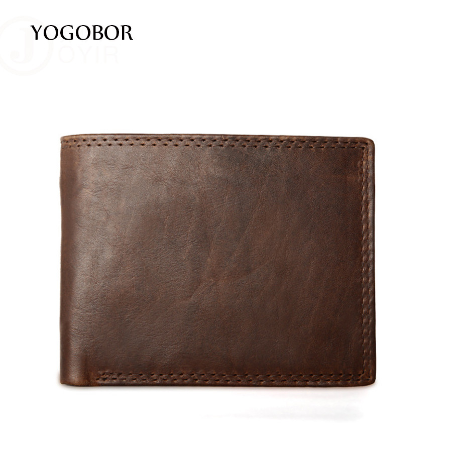 HOT!!! Genuine Crazy Horse Cowhide Leather Men Wallet Short Coin Purse Small Vintage Wallet Brand High Quality Designer Wallets phenolic compounds from mongolian medicinal plants