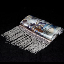 100% Silk Scarf Men Scarf Rivers and Mou