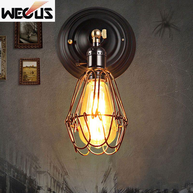 Željezni kavez retro potkrovlje zid svjetlo cafe spavaća soba - Unutarnja rasvjeta