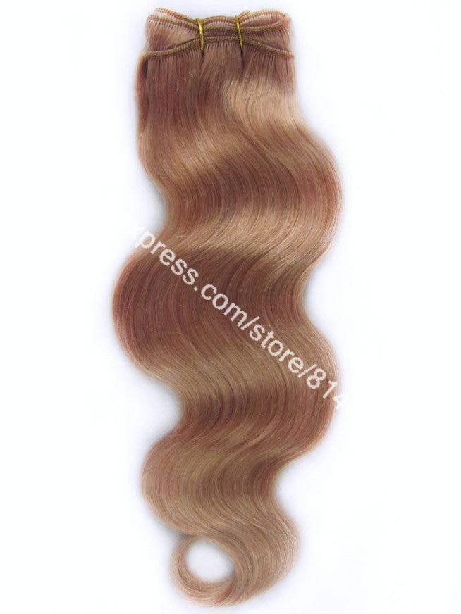 #16 Dark Honey Blonde Weave Body Wave 100% Brazilian Virgin Remy Hair Machine Weave Hair Virgin Human Hair Extension