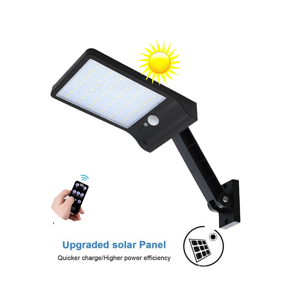 remote control rotate bracket solar street light new 48 LED 800 LM Outdoor LED Solar Power