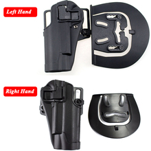 Quick Drop Hunting Shooting Gun Belt Holster Tactical Colt 1911 Army Combat Pistol Left / Right Hand Carry Case