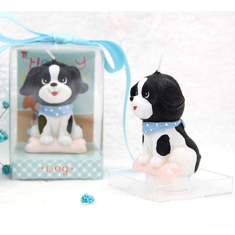 1pcs/lot Cute wax cake decorative puppy dog birthday
