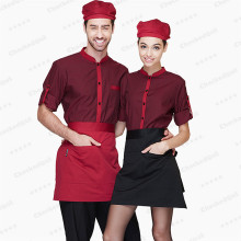 (5 get 10% off,10 get apron)Man/woman coffee shop restaurant hotel long sleeve waiter shirt uniform work wear work clothes