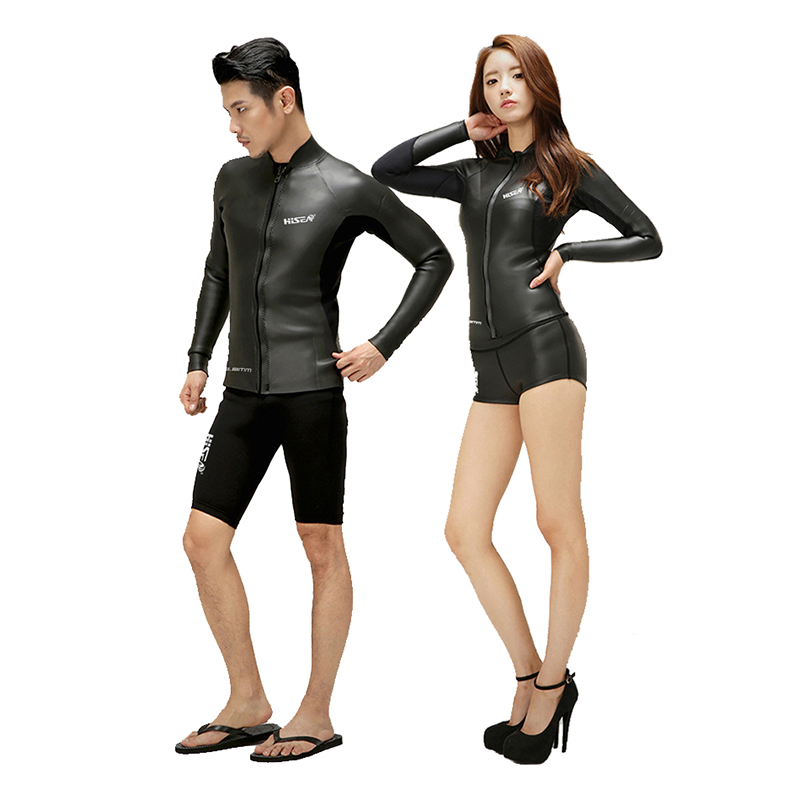 New 2 mm Men Women Long sleeve black Jacket with Shorts Wet Suit Leather Scuba Dive Wetsuit Jacket Surfing Diving Spearfishing 2016 new styles summer diving wetsuit for men father day s gift summer surfing costumes fine embossed wetsuit a1616