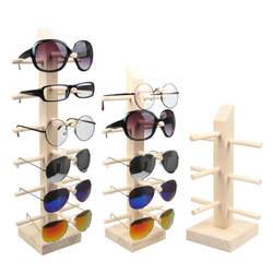 Новый солнцезащитные очки древесины Дисплей стоит полка очки Дисплей Показать стенд держатель стойки 9 размеров опции Природный Материал