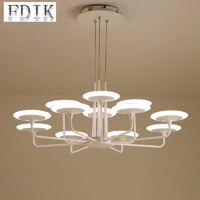 Simplicity Post Modern Living Room Pendant Lights Ac 220v Double Color Dimmable Led Lamp Villa Restaurant Hanging Light