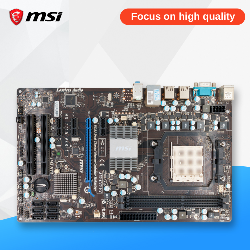MSI 870-C45 V2 Original Used Desktop Motherboard 770 Socket AM3 DDR3 8G SATA2 USB2.0 ATX msi p41 c31 original used desktop motherboard p41 socket lga 775 ddr3 4g sata2 usb2 0 atx