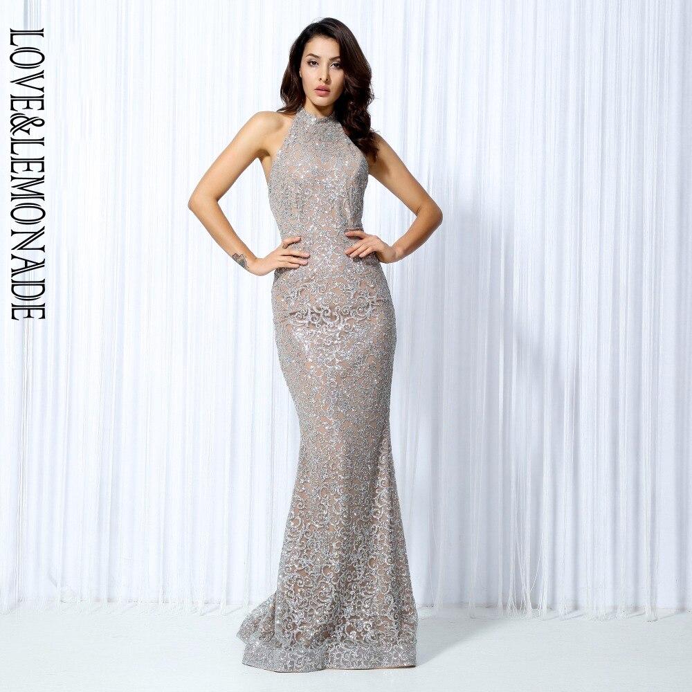 사랑 & 레모네이드. 실버 꽃 포도 나무 스틱 이슬 긴 드레스 lm0026-에서드레스부터 여성 의류 의  그룹 1