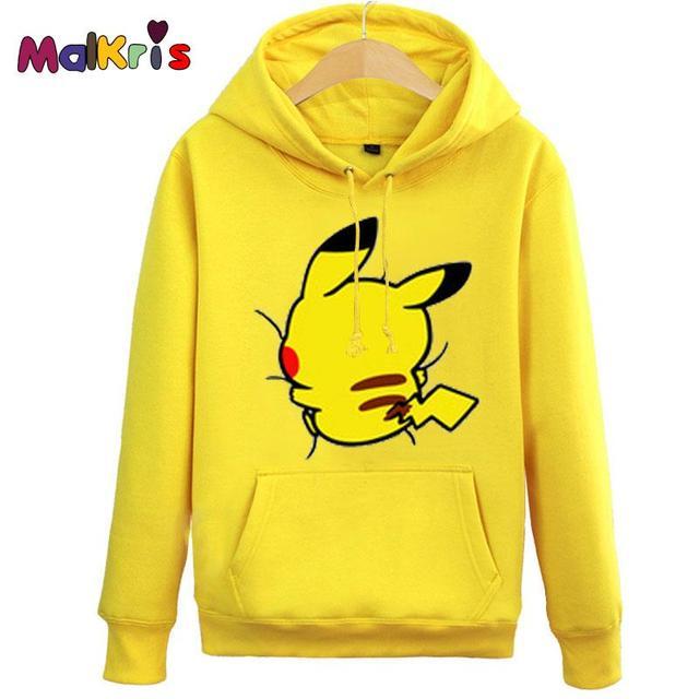 Sudaderas Mujer 2016 Cute Pikachu Jacket Kids Autumn Pokemon Hoodies Women  Men Sweatshirts Lover Couple Hooded f583d7ed3
