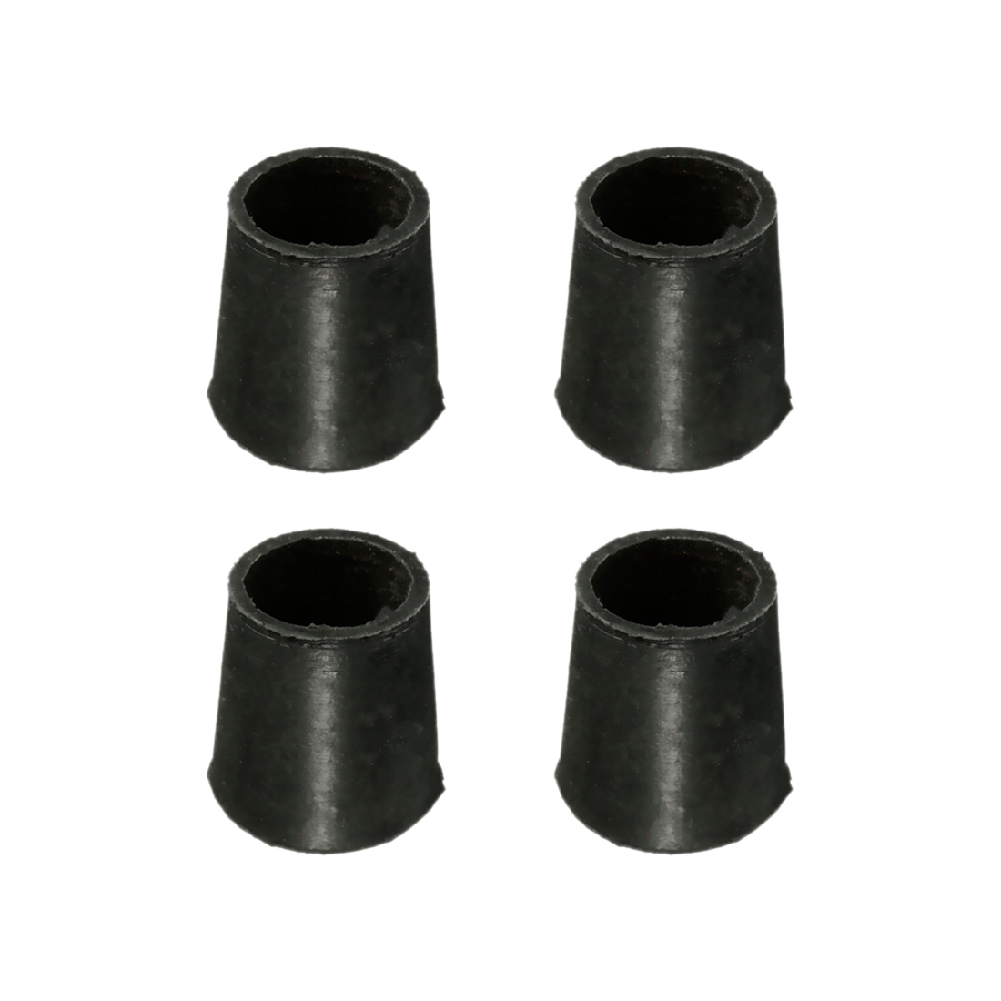 "black anti scratch Small-Large Rubber Ferrule floor protector chair feet leg capdiameter :16Mm(5/8"") Quantity::4Pcs"