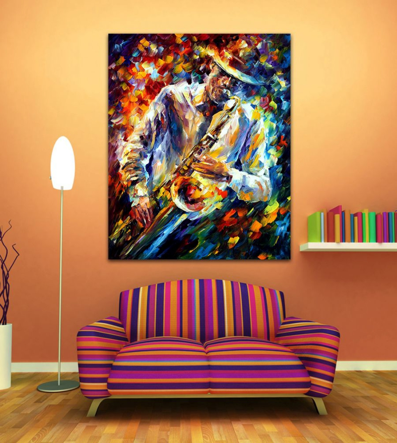 100 handpainted oil painting famous musicians fantastic performance canvas wall pictures for home office hotel - Violet Hotel Decor
