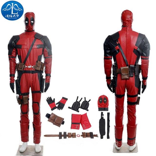 MANLUYUNXIAO Deadpool Costume Outfits Macacões Dos Homens Adultos Traje de  Halloween para Os Homens Deadpool Cosplay e07c61348143