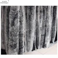 Linhaoshengyue real Fox cap vigoreux white black wool fur raccoon hats vigoreux fur collar fur fox fur collar 80cm long