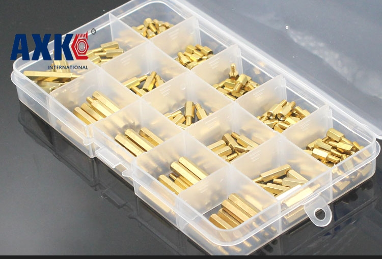 2017 Real Parafuso Screws For Laptops Wood Screws 300pcs M2 Male X Female Long Screw Bolt Brass Standoff Spacer Assortment Set 230pcs m2 5 2 5mm brass standoff spacer male x female with m2 5 6 pan head screws and m2 5 hex nut assortment kit