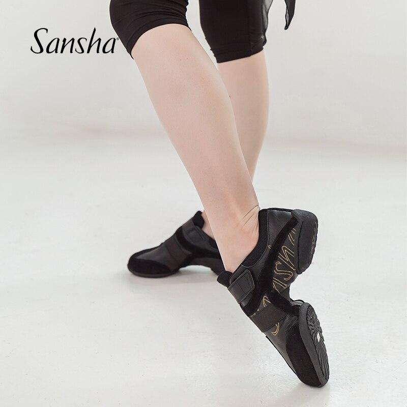 三沙ダンススニーカー低ヒール高スプリットソールなめらかなデザインスタイル Dancwear S179LPI/S179LCO  グループ上の スポーツ & エンターテイメント からの ダンスシューズ の中 1
