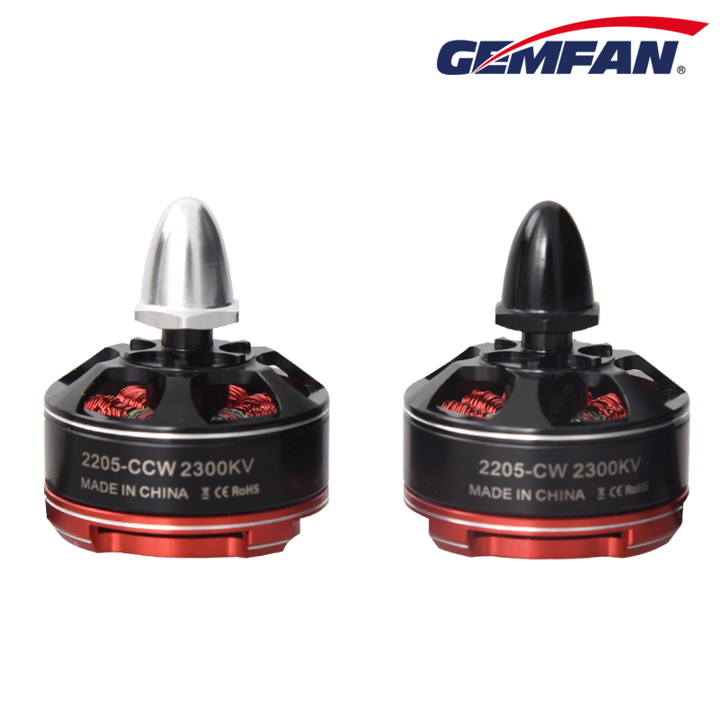 Gemfan Quadcopter Motor Brushless CW/CCW  2306 2200KV Motor for Micro RC Helicopter Quad FPV Drone original emax rs1104 5250kv brushless motor t2345 tri blades propellers cw ccw props for 130 rc brushless racer drone q20400