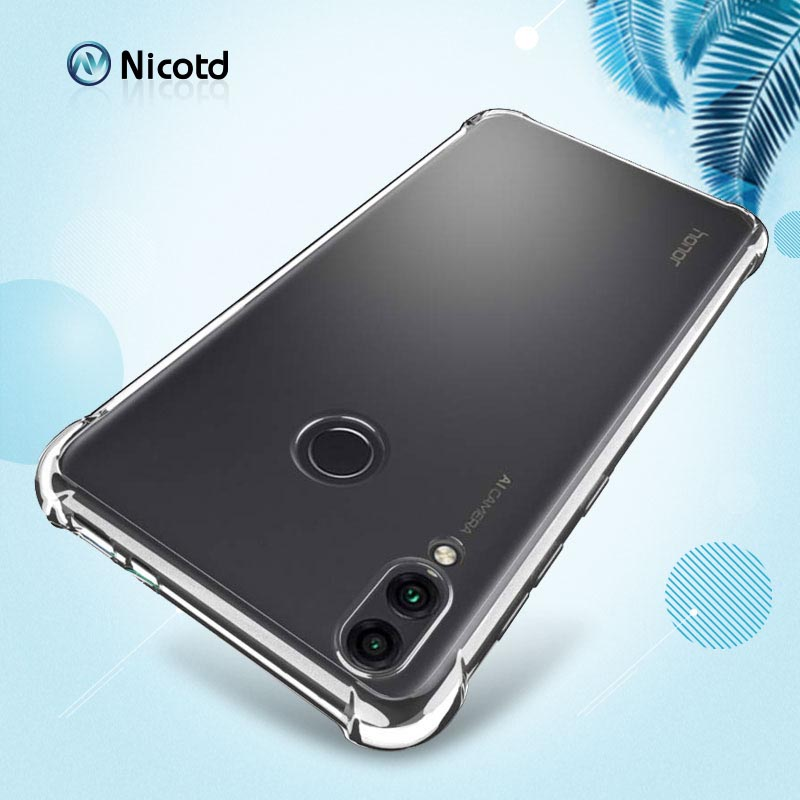 Full Protective Anti-knock Airbag Silicone Case for Huawei Honor 8C 8X Max 8C Note 10 Clear TPU Cover for Honor 9Lite 9i V9 Play (6)
