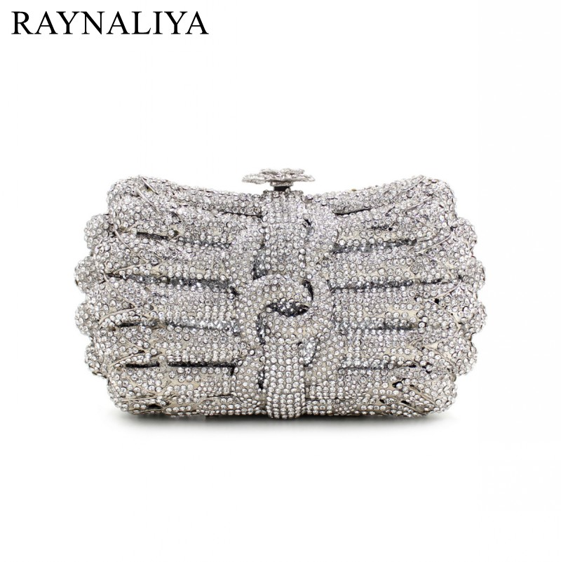 2017 Luxury Top Grade Colorful Women Diamonds Crystal Evening Bags Ladies Rhinestone Party Cluths Handbags SMYZH-F0110 women luxury rhinestone clutch beading evening bags ladies crystal wedding purses party bag diamonds minaudiere smyzh e0193