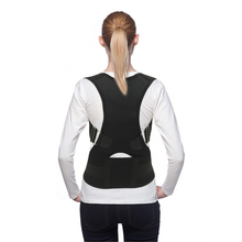 Unisex Adjustable Back Posture Corrector Brace Back Shoulder Support Belt Posture Correction Belt for Men Women Black S-XXL