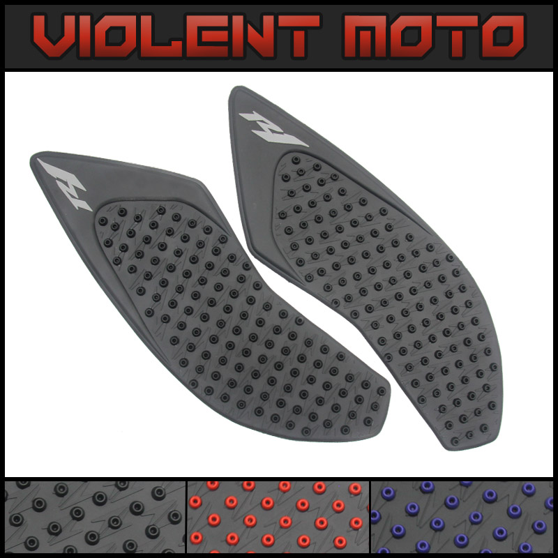 Mtimport 2007 2008 Yzf R1 Yzf-r1 Anti Slip Tank Pad Side Gas Knee Grip Traction Pads Sticker Decals For Yamaha Yzf R1 2007 2008 Motorcycle Accessories & Parts