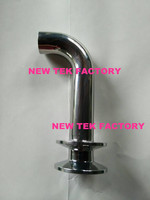 1 Tri Clover Compatible Style Pickup Tube Stainless Steel SS304 Home Brew Fitting Clamped Racking Arm