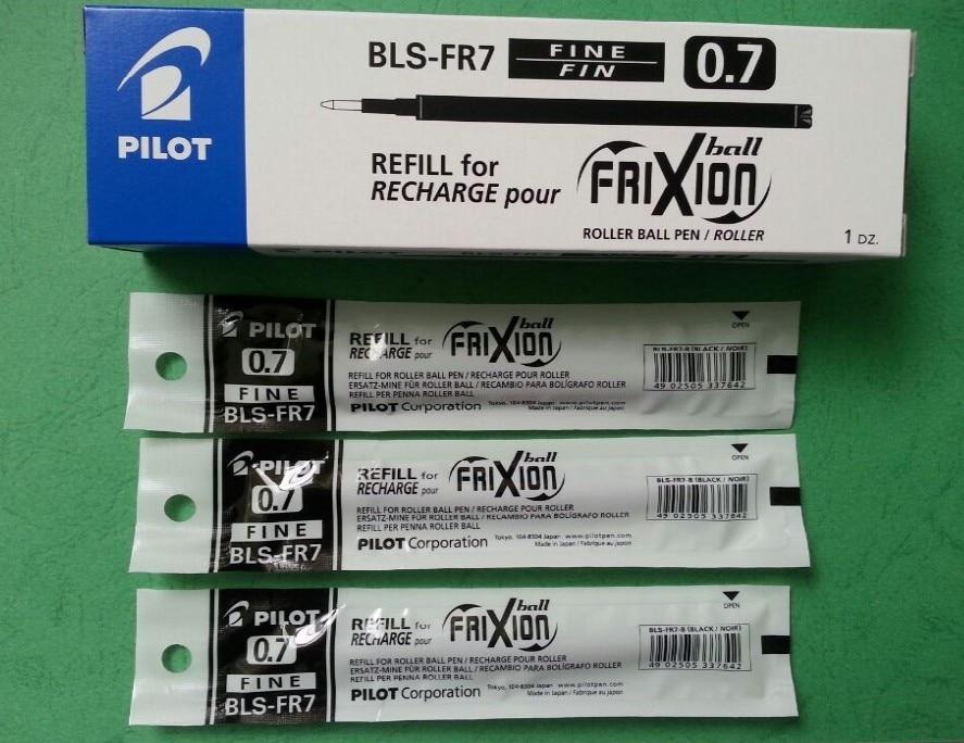 BLS-FR7 Pilot Erasable/Frixion Pen Refill Roller Ball 0.7mm 12 Pcs/Box