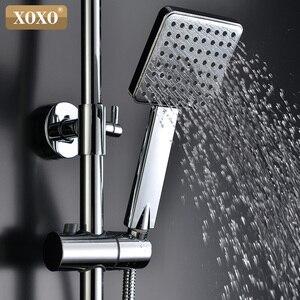 Image 4 - XOXO ducha de lujo con pantalla inteligente digital dinámica de agua, grifo de ducha con led, juego de grifería Mezclador de Baño, 88010