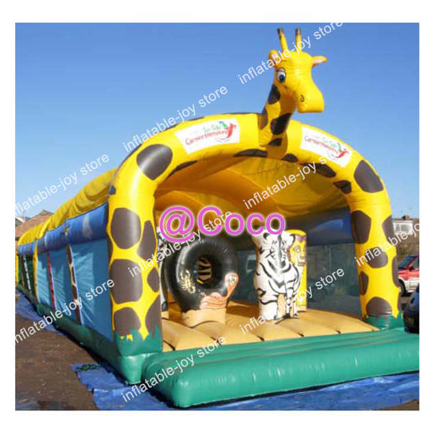 Free Ship To Sea Port 10m Long Big Inflatable Jumping House Jungle
