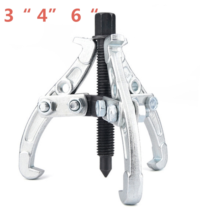 3 Jaw Bearing Puller Auto Gear Remover Pulling Extractor Tool w/ Reversible Legs 3 75mm 4 100mm 6 150mm цена