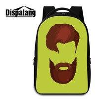 Dispalang Fashion Beard Laptop Backpacks Comics Large School Bags For Teenage Boys Notebook Backpack Women Shoulder