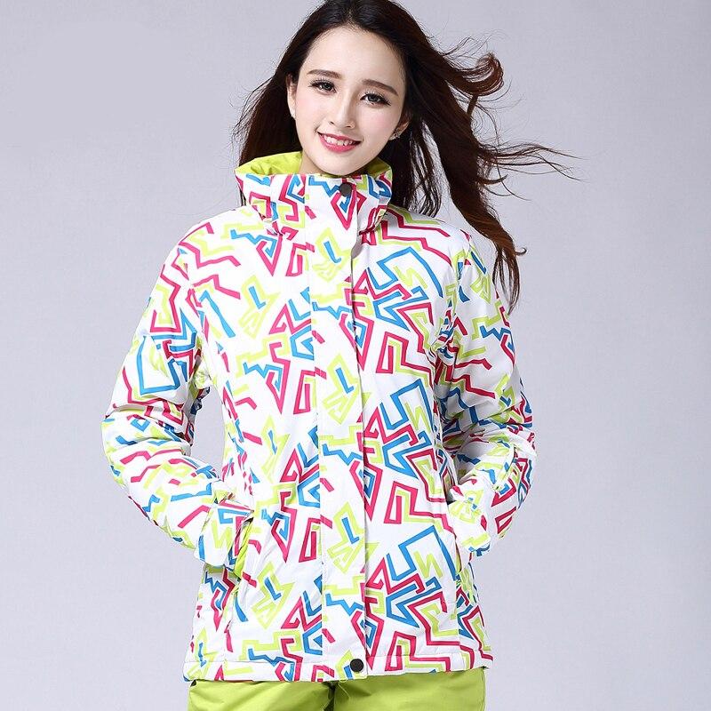 Combinaison de snowboard femmes marques hiver épais chaud coupe-vent imperméable respirant neige Ski Jachet + pantalon - 4