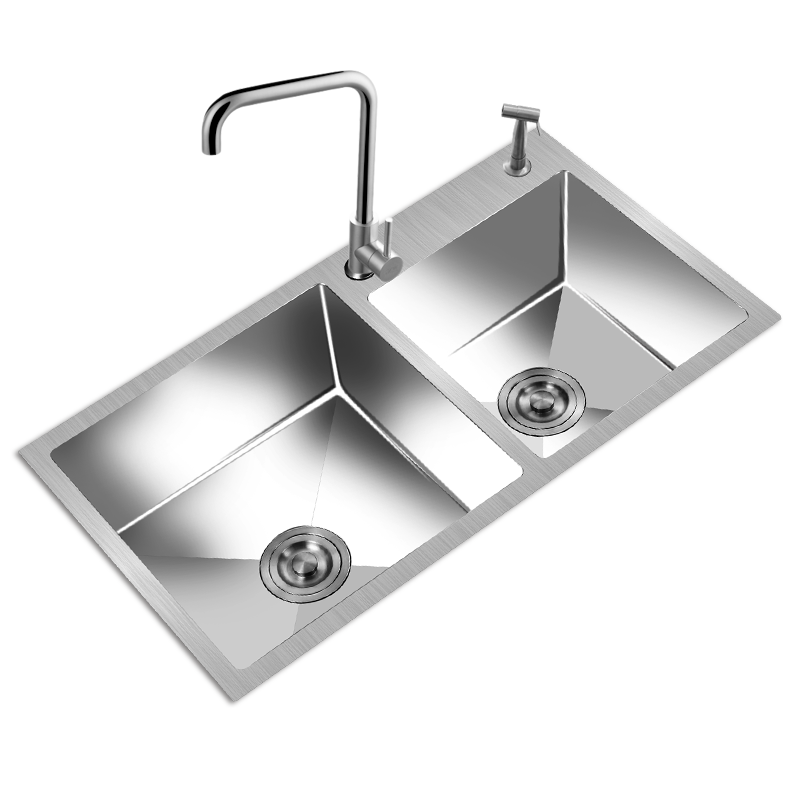 Handsinks Double Trough Thickening Quality Stainless Steel