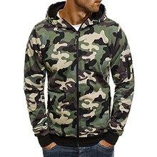 Мужская камуфляжная толстовка, камуфляжная куртка с капюшоном в стиле хип хоп, осенний флисовый военный кардиган с капюшоном размера плюс XXXL, 2019