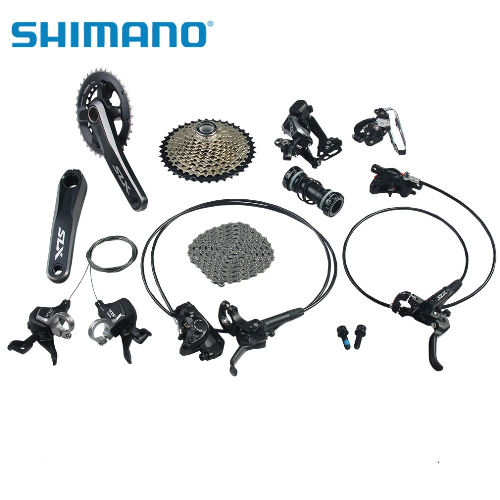 SHIMANO SLX M7000 Bike Cycling Groupsets 22-speed 170mm Crank Mountain Bicycle Parts 11-40T Group Set west biking bike chain wheel 39 53t bicycle crank 170 175mm fit speed 9 mtb road bike cycling bicycle crank
