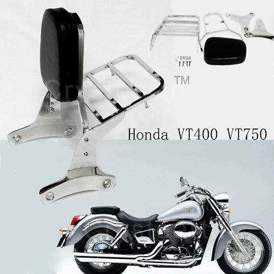 New Motorcycle Sissy Bar Backrest With Luggage Rack For Honda Shadow VT750 C2 RC44 1997-2003 VT400 1992-1998 стоимость