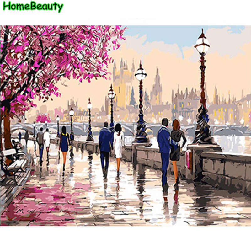Painting calligraphy acrylic pictures by numbers Modular painting for living room canvas wall art coloring by number PH9231