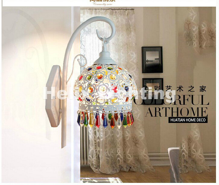 Tiffany Decor Tiffany Wall Lamp, Baroque Wall Lamp , Colorful Wall Mounted Tiffany Light For Balcony,Bedroom, Corridor E27 AC fashion letters and zebra pattern removeable wall stickers for bedroom decor